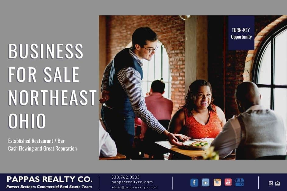 Bar and Restaurant Established Business For Sale in Northeast Ohio - Contact The Powers Brothers at Pappas Realty Co.